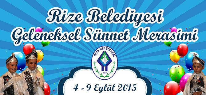 Rize Belediyesi'nden Toplu Sünnet Merasimi