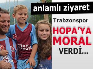 Trabzonspor'dan Hopa'ya anlamlı ziyaret