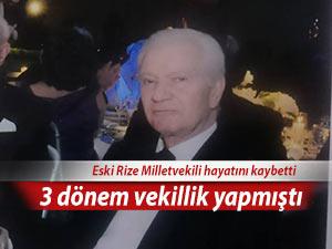 3 dönem Rize Milletvekilliği yapan Akçal, hayatını kaybetti