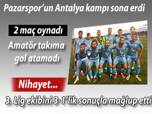 PAZARSPOR NİHAYET KAZANMAYI HATIRLADI!
