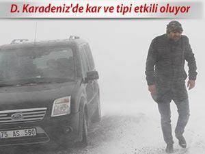 D. Karadeniz'de kar ve tipi etkili oluyor