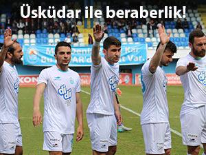Pazarspor evinde Üsküdar ile 1-1 berabere kaldı