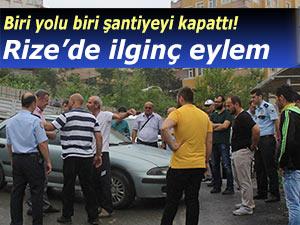 RİZE'DE İLGİNÇ EYLEM!