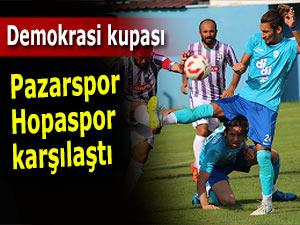 Pazarspor ile Hopaspor arasında demokrasi maçı