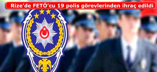 Rize�de 19 polis g�revlerinden ihra� edildi