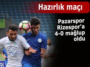 Rizespor Pazarspor'u 4-0 mağlup etti