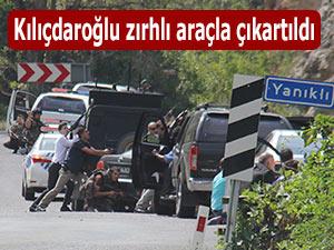 CHP Lideri Kılıçdaroğlu zırhlı araçla çatışma bölgesinden çıkartıldı