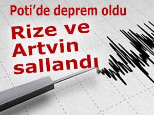 Poti'de deprem oldu, Rize sallandı