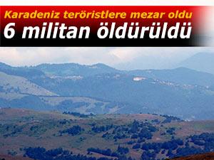 Karadeniz teröristlere mezar oldu