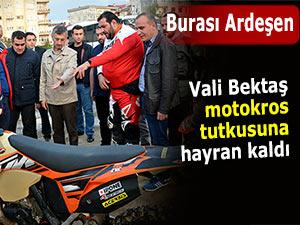Ardeşen'de motokros tutkunlarına Vali ilgisi