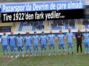 Pazarspor'da Devrim de çare olmadı!