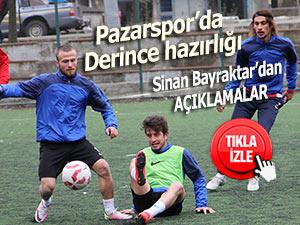 Pazarspor Derincespor maçına hazırlanıyor