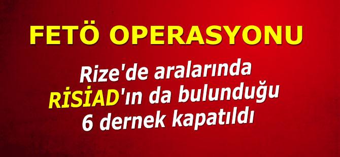 Rize'de FETÖ ile ilişkisi tespit edilen 6 dernek kapatıldı