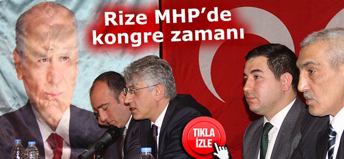 Rize MHP'de kongre zamanı