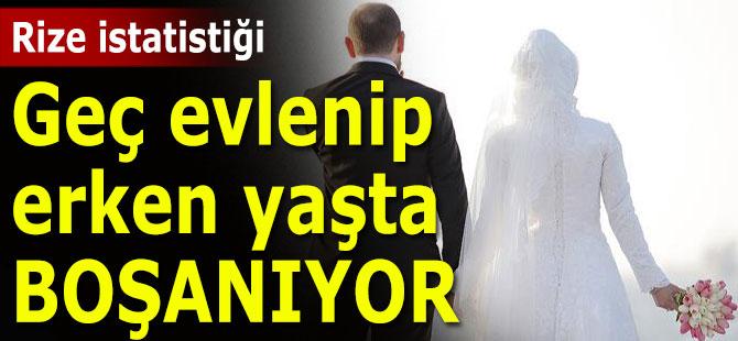 Rizeliler geç evlenip, erken yaşta boşanıyor