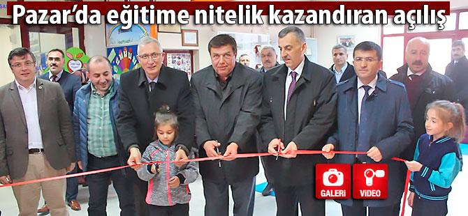 Pazar TOKİ'de dersler koridorlara taşındı!