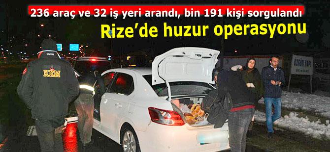 236 araç ve 32 iş yeri arandı, bin 191 kişi sorgulandı