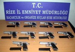 Çayeli'nde kaçak silah operasyonu