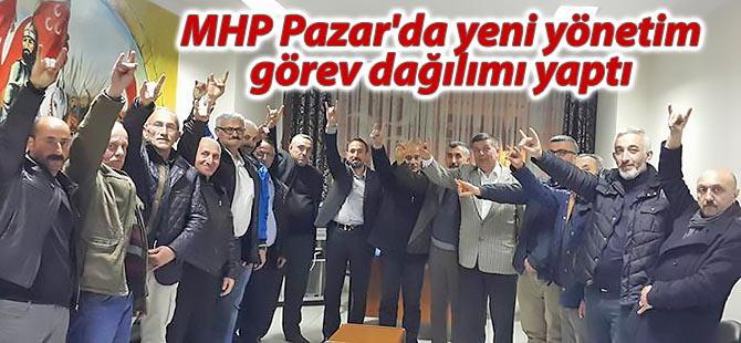 MHP Pazar'da yeni yönetim görev dağılımı yaptı