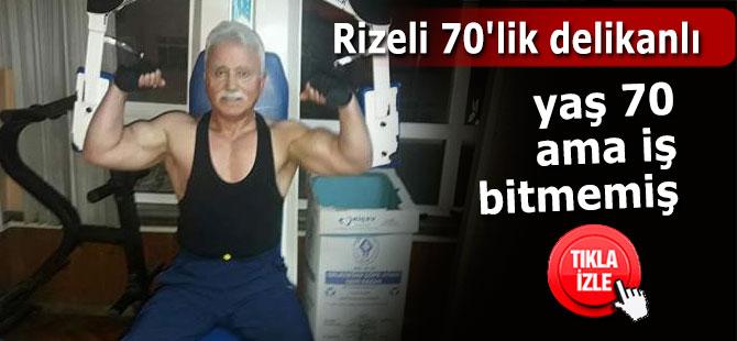 Rizeli 70'lik delikanlı  yaşına rağmen fiziği ve atletik yapısı ile dikkat çekiyor
