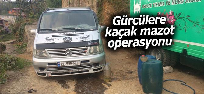 Kaçak akaryakıt satan Gürcülere operasyon