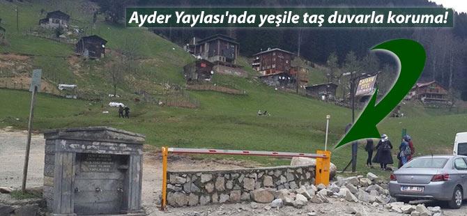 Ayder Yaylası'nda yeşile taş duvarla koruma!