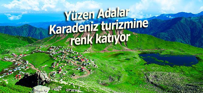 Yüzen adalar Karadeniz turizmine renk katıyor