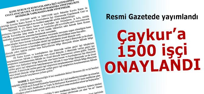Çaykur'un 1500 işçi alımı onaylandı