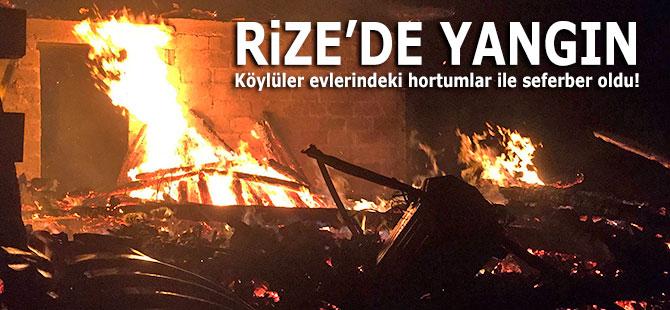 Köylüler evlerindeki hortumlar ile seferber oldu!