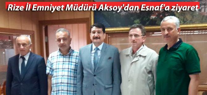 Rize İl Emniyet Müdürü Aksoy'dan Esnaf'a ziyaret