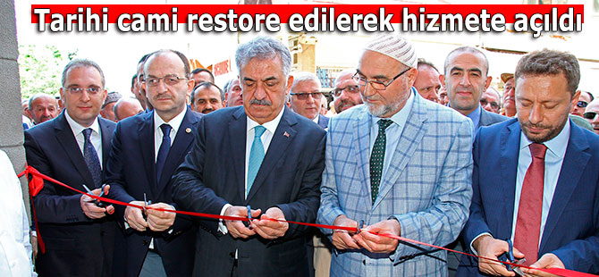 Tarihi cami restore edilerek hizmete açıldı