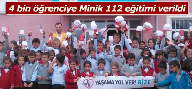 4 bin öğrenciye Minik 112 eğitimi verildi