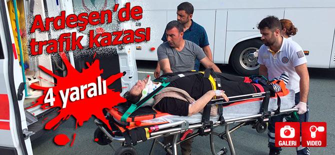 Ardeşen'de trafik kazası: 4 yaralı