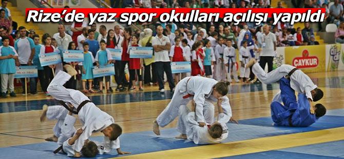 Rize'de yaz spor okulları açılışı yapıldı