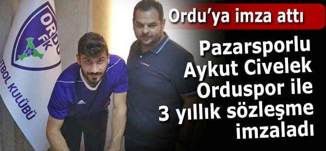 Aykut Civelek Ordu FK'ya imzayı attı