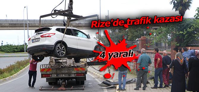 Rize'de trafik kazası: 4 yaralı