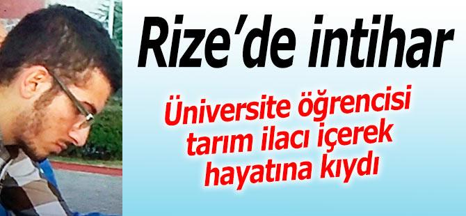 Rize'de üniversite öğrencisi intihar etti