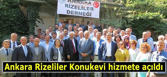 Ankara Rizeliler Konukevi hizmete açıldı