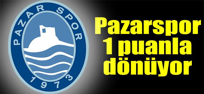Pazarspor İzmir deplasmanından puan çıkarttı