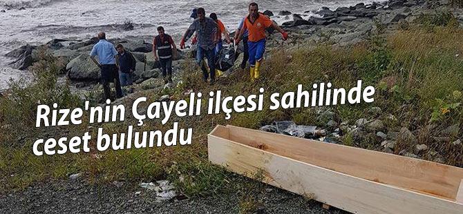 Rize'nin Çayeli ilçesi sahilinde bir ceset bulundu