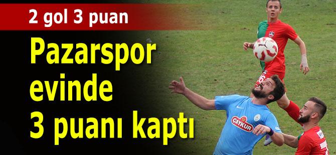 Pazarspor evinde 3 puanı 2 golle aldı