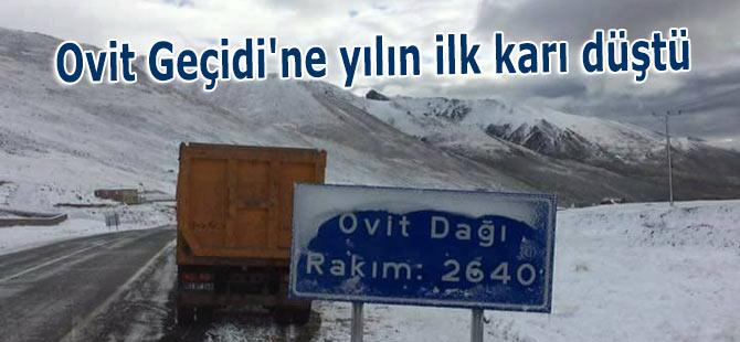 Ovit Geçidi'ne yılın ilk karı düştü