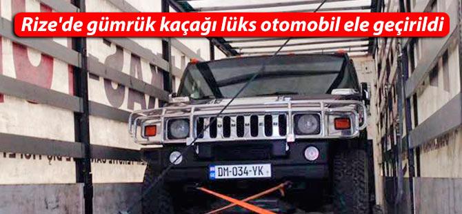 Rize'de gümrük kaçağı lüks otomobil ele geçirildi