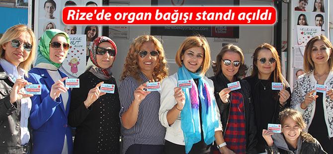 Rize'de organ bağışı standı açıldı