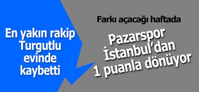 Pazarspor İstanbul'dan 1 puanla dönüyor