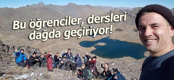 Bu öğrenciler, dersleri dağda geçiriyor!