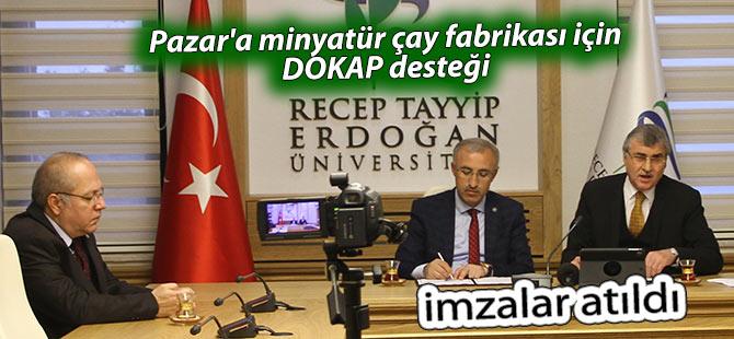 Pazar'a minyatür çay fabrikası için DOKAP desteği