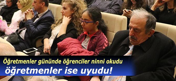 Rize'de Öğretmenler Günü'nde öğrenciler türkü söyledi, öğretmenler uyudu