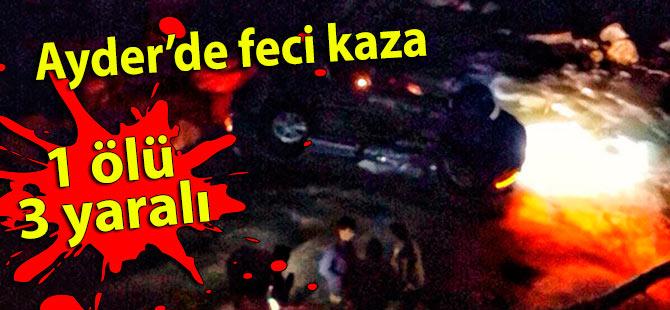 Ayder yolunda kaza: 1 ölü 3 yaralı