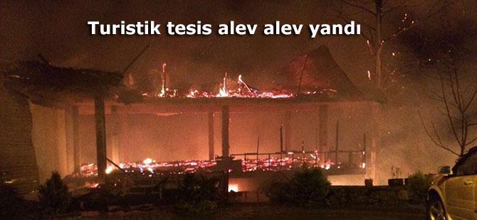 Ağaran Şelalesi'ndeki bir tesiste yangın